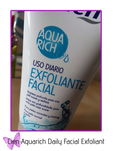 cien aquarich daily facial exfoliant