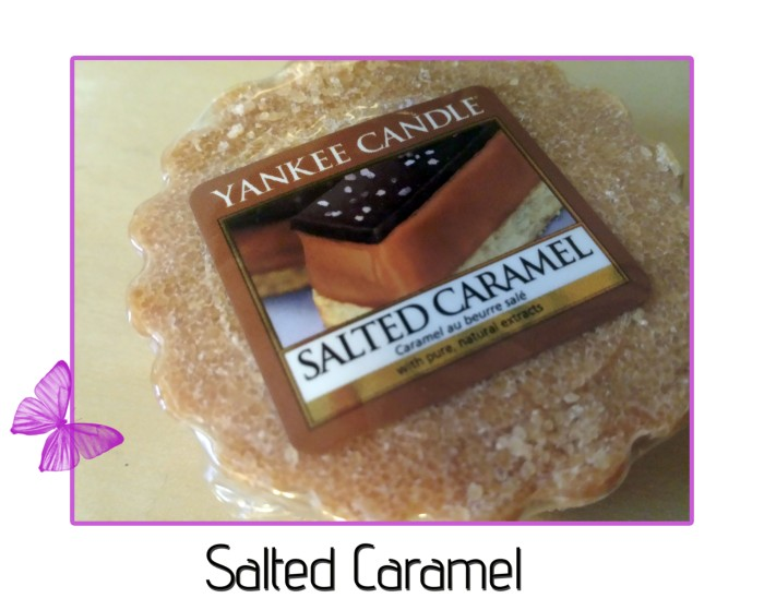 yankee candles wax tart salted caramel