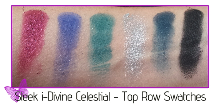 sleek i-divine celestial top row swatches