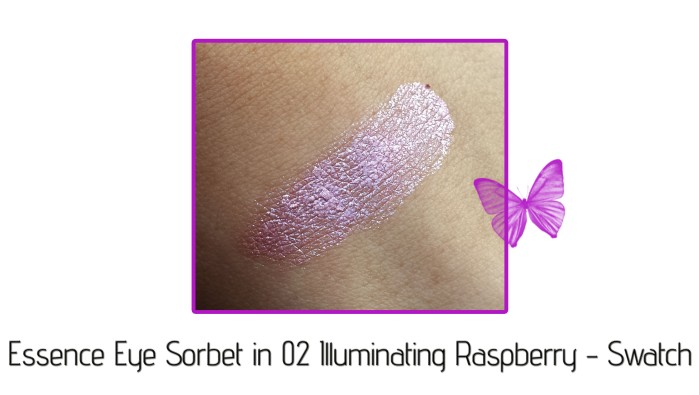 essence eye sorbet in 02 illuminating raspberry swatch