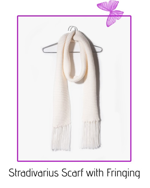 stradivarius scarf with fringing