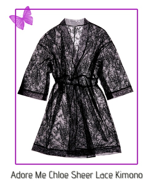 adore me chloe sheer lace kimono